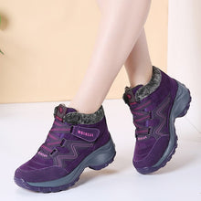 Women Snow Boots High Quality Winter Warm Push Ankle Boots Women Platform Female Wedge Waterproof Botas Mujer