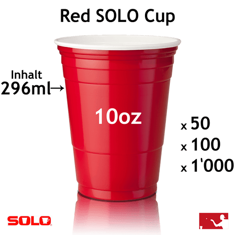 Bierpong Becher Red Cup 10oz