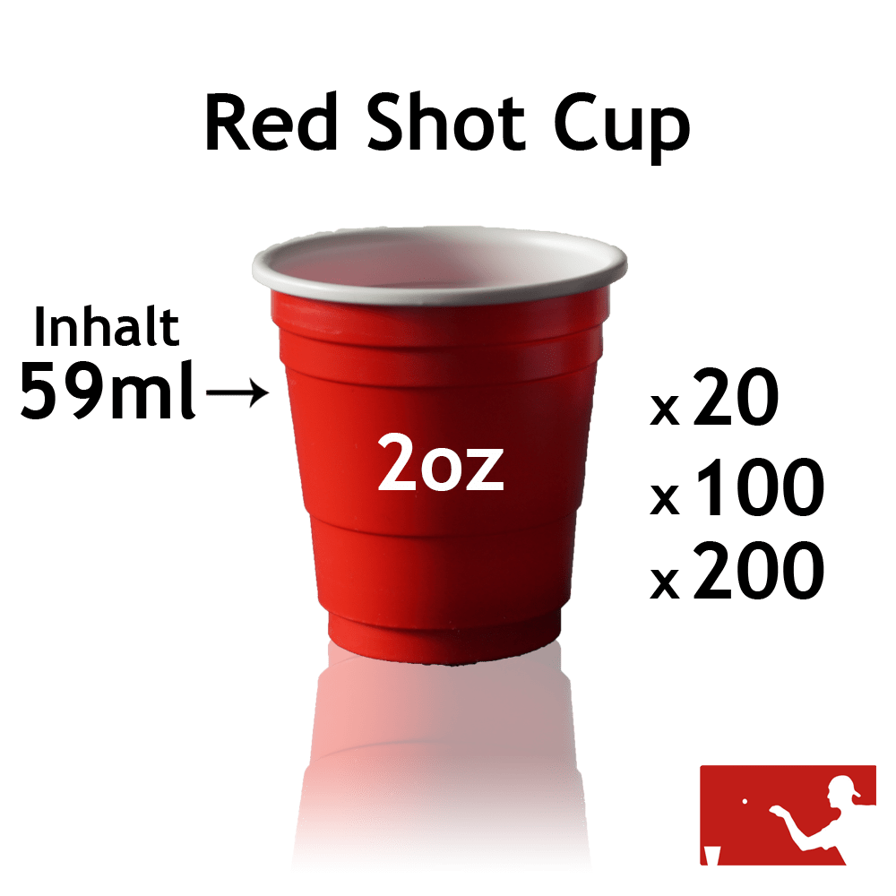 Roter Bierpong Shop Cup 2oz