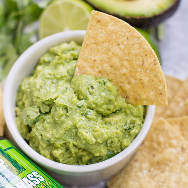 Guacamole with Pines Wheat Grass