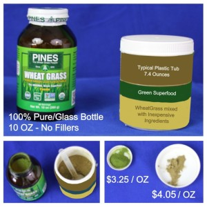 Tubs are Grossly Inappropriate for Green Super Foods & Cost More Per Serving