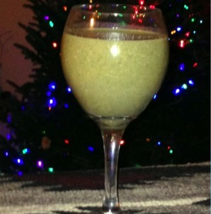 Wheatgrass Nog for the Holidays