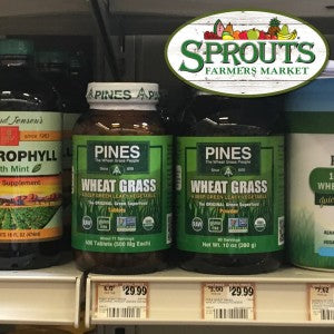 Sprouts Carries Pines Wheat Grass Powder & Tablets