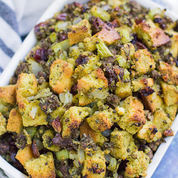 Wheatgrass Corn Bread Stuffing