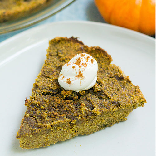 Wheatgrass Pumpkin Pie