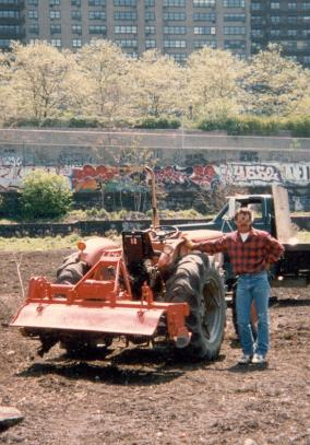 For Stan, a rented garden tractor, because a paint brush.
