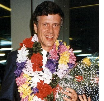 Asia distributors greeted Steve and Ron at every airport with flowers and leis.