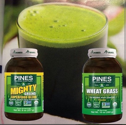 It's easy to add a scoop of quality green superfood powder from Pines to a smoothier or juice for additional green nutrtion.