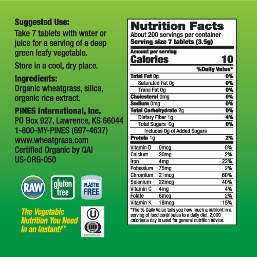 Wheatgrass Tablets (1400)