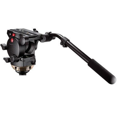 Manfrotto 526 Pro Fluid Video Head w/35lb. Rating & 100mm Half Ball