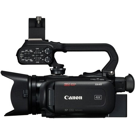 Canon XA45 Pro Camcorder with Lens Hood/BP-820 Battery Pack/Mic Holder Unit/Handle Unit/CA-570 Compact Power Adapter