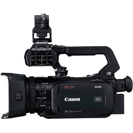 Canon XA55 Pro Camcorder with Lens Hood/BP-820 Battery Pack/Mic Holder Unit/Handle Unit/CA-570 Compact Power Adapter