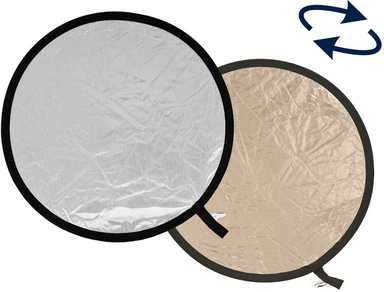 Lastolite Collapsible 12in Sunfire and Silver Reflector