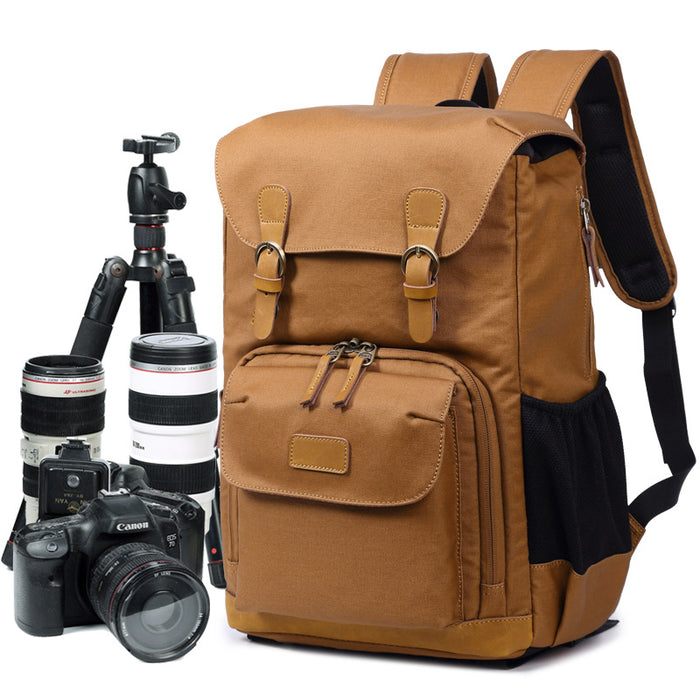 Vintage Retro Pro Photographer Backpack