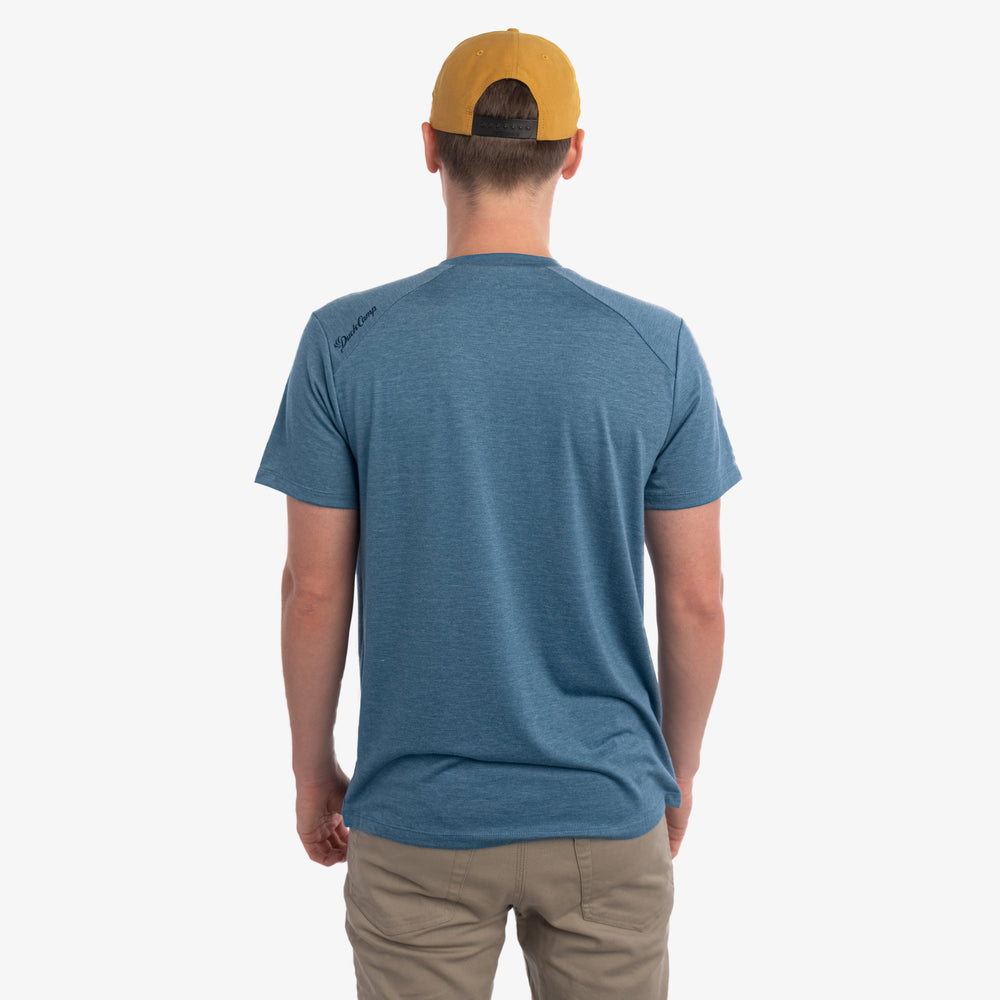 Lightweight Bamboo Pocket Tee | Heathered Cenote