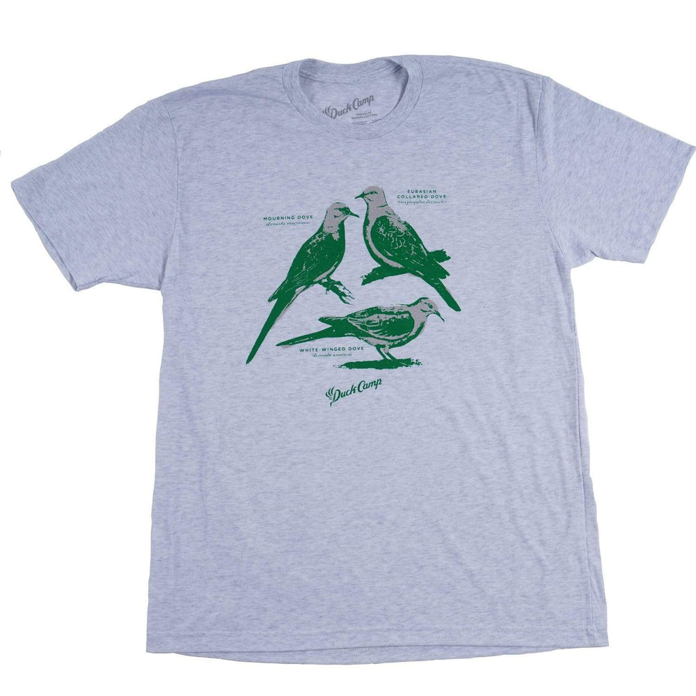 Dove Identification T-shirt- Heather White - Duck Camp