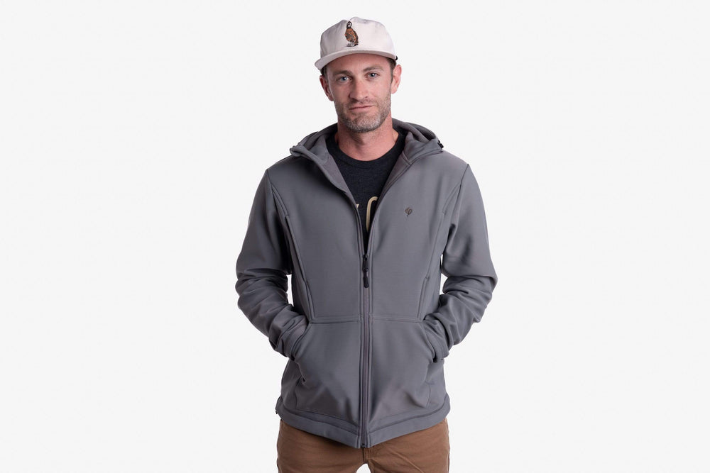 Head Guide Fleece Hoodie - Full Zip - Gunmetal
