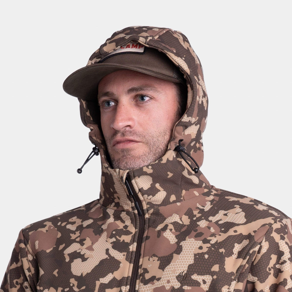Head Guide Fleece Hoodie - Half Zip - Late Season Wetland
