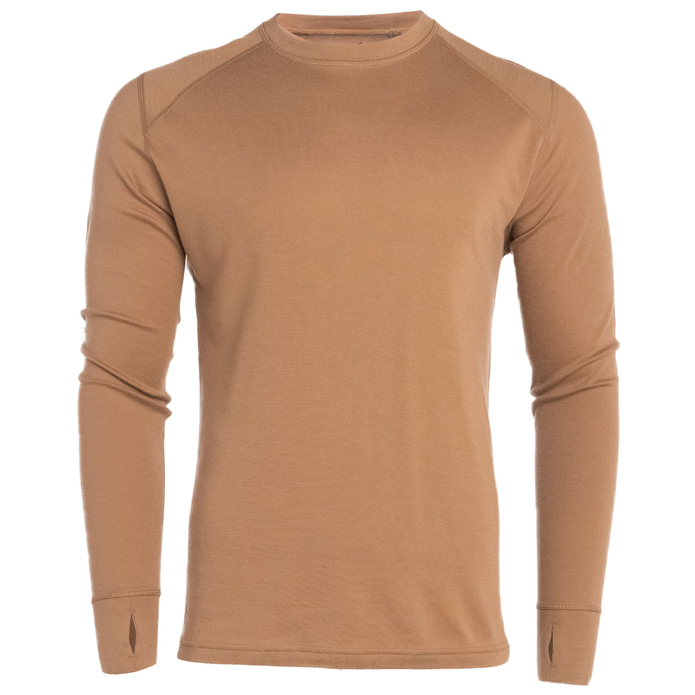 Merino Wool Base Layer - Top - Pintail Brown