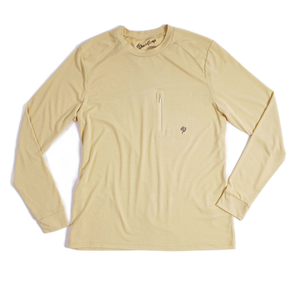 Women's Lightweight Bamboo Long Sleeve Crew | Barley Yellow