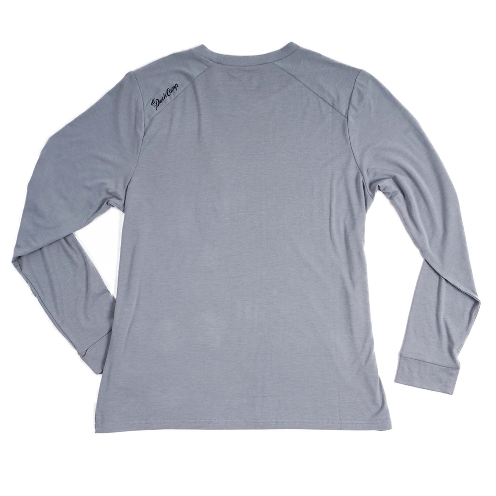 Women's Lightweight Bamboo Long Sleeve Crew | Pluff Mud Gray