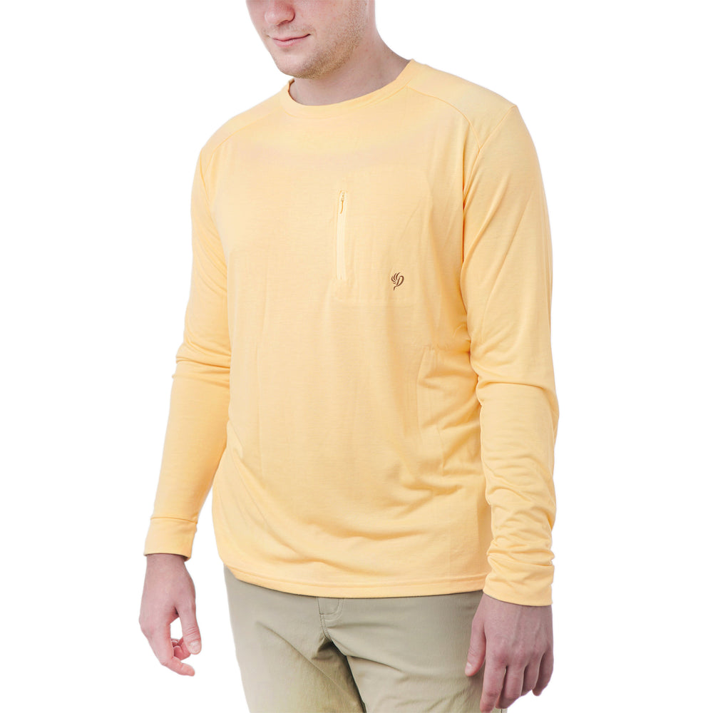 Lightweight Bamboo Crew | Barley Yellow