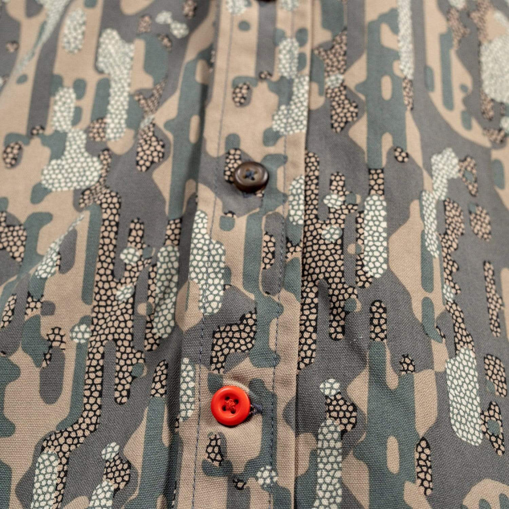 Midweight Hunting Shirt - Late Season Woodland Clay Pigeon Button - Duck Camp Co