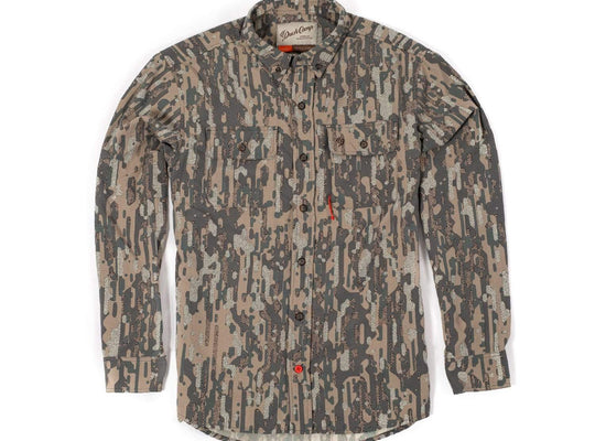 Midweight Camouflage Hunting Shirt - Late Season Woodland - Duck Camp Co