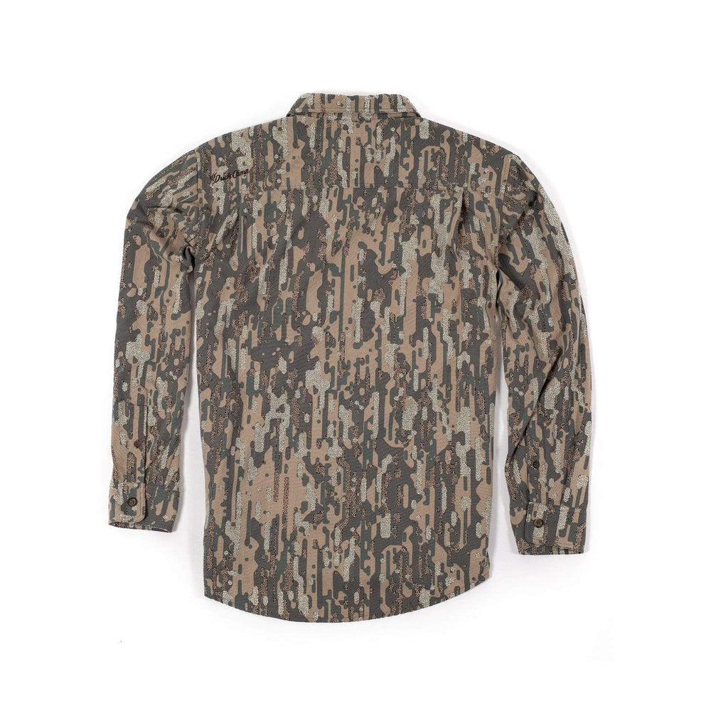 Midweight Duck Hunting Camouflage Shirt - Late Season Woodland - Duck Camp Co