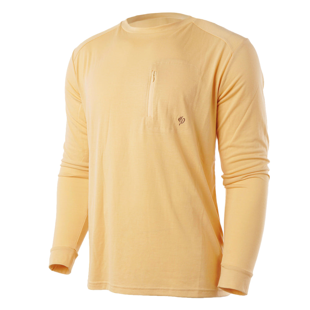 Lightweight Bamboo Crew - Barley Yellow