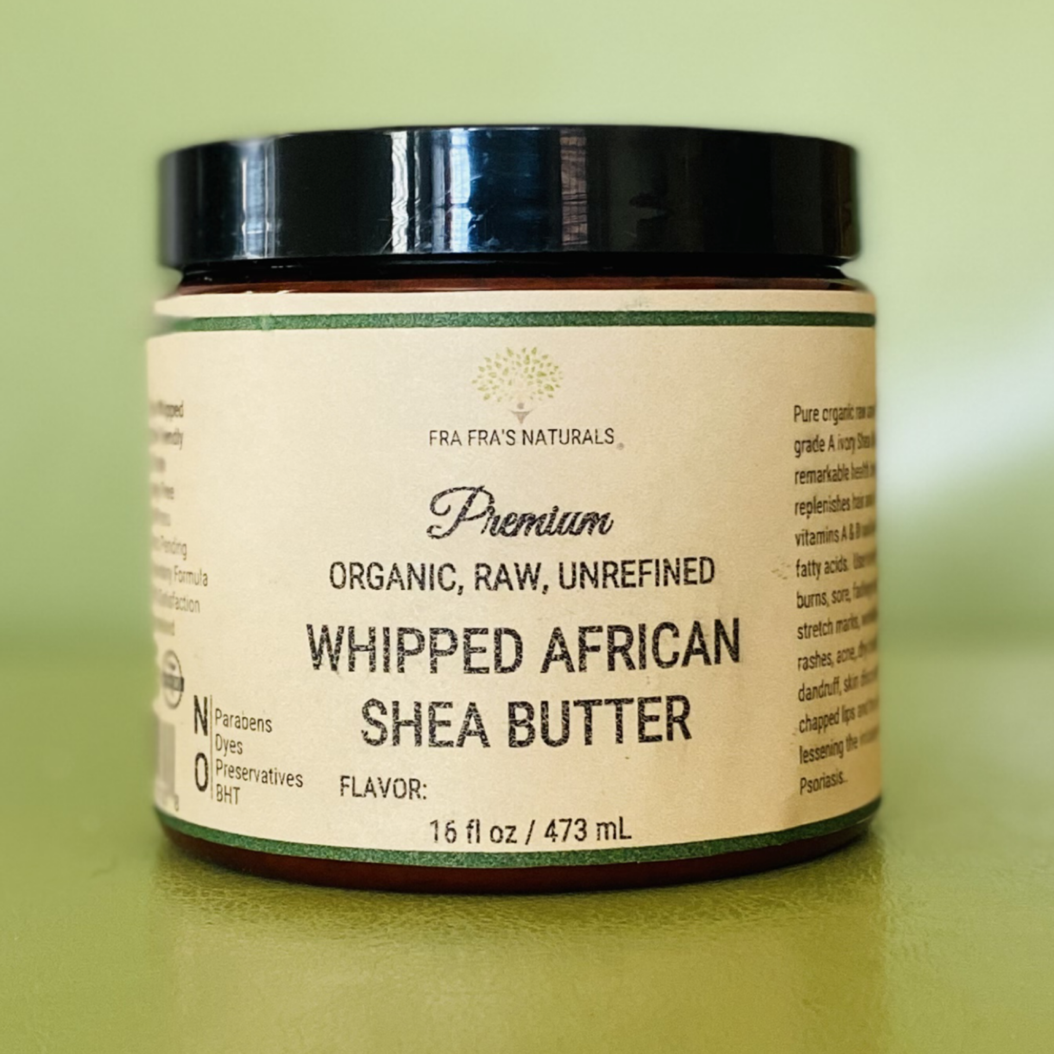 Fra Fra's Naturals | Premium Raw Organic Whipped Shea Butter - Camphor Scents