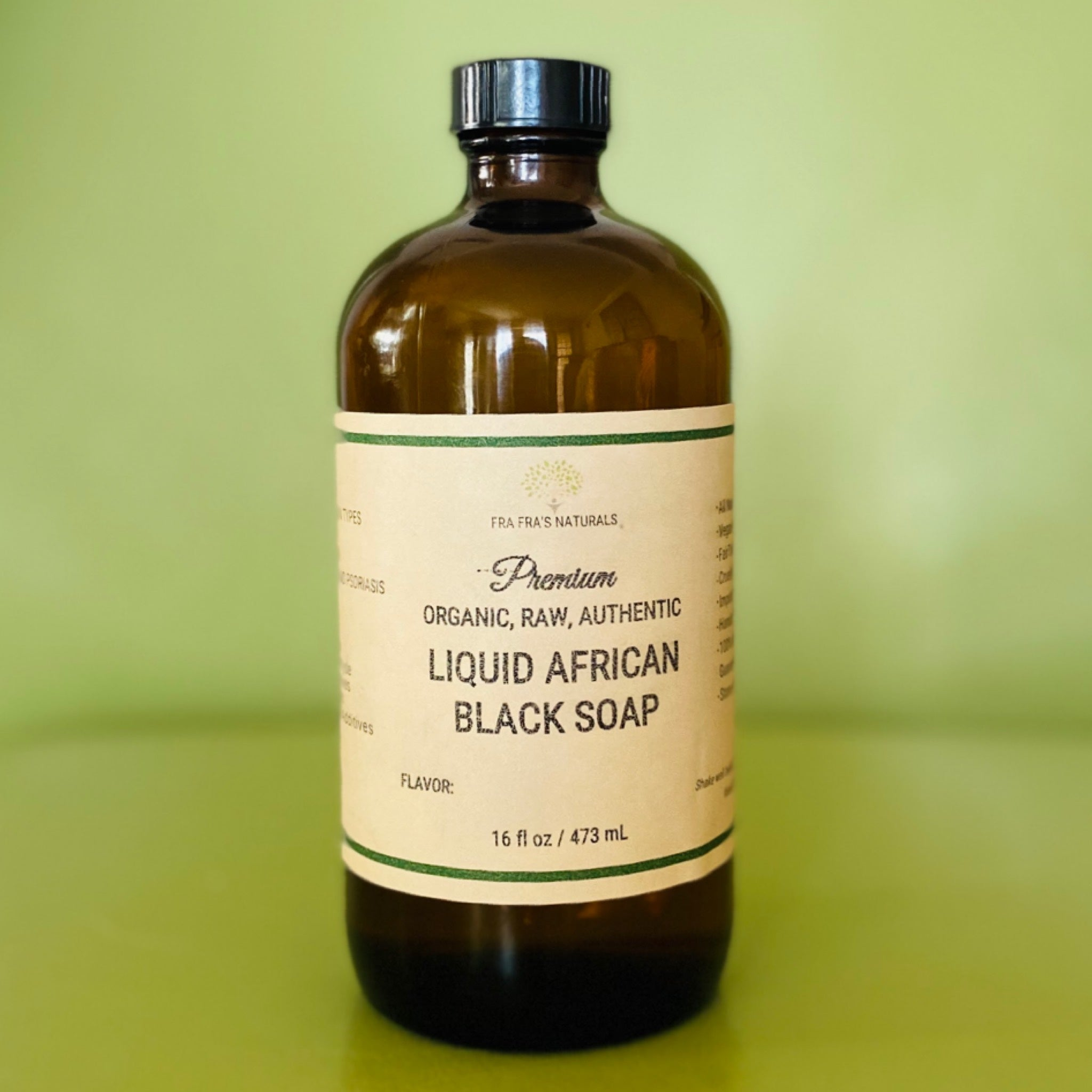 Fra Fra's Naturals | Premium Organic Raw Liquid African Black Soap - 16 oz