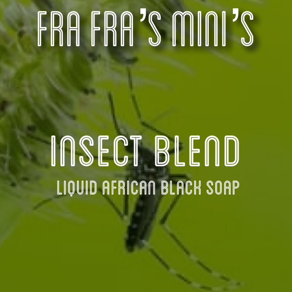 Fra Fra's Mini's | Premium Insect Blend Liquid African Black Soap - 4 oz