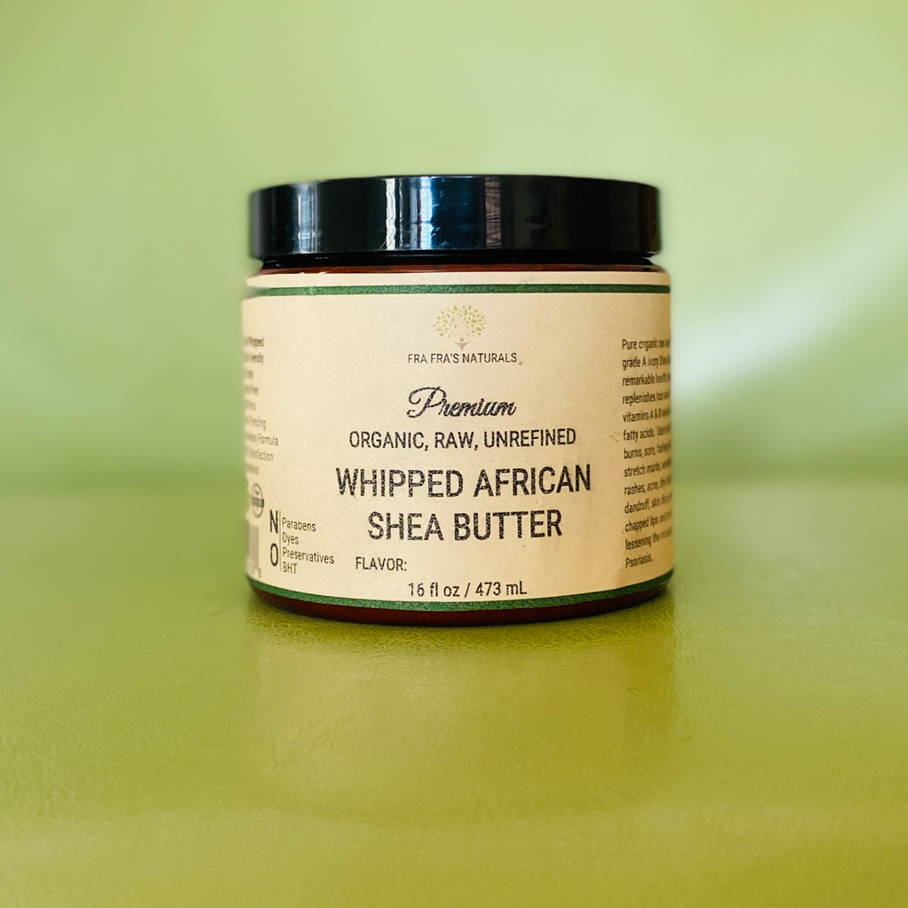 Fra Fra's Naturals | Premium Organic Raw Unrefined Whipped Shea Butter  - Unscented