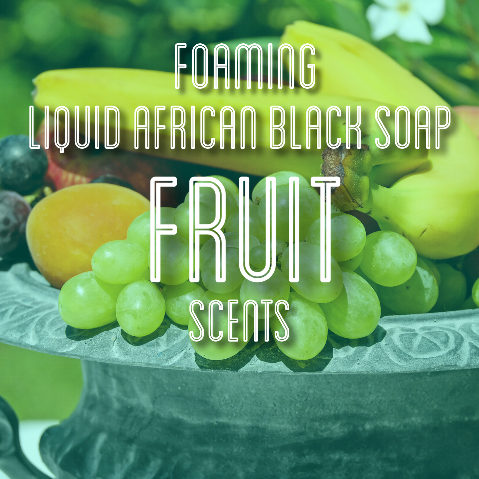 Fra Fra's Naturals | Premium Organic Raw Foaming African Black Soap Face and Body Wash - Fruit Scents