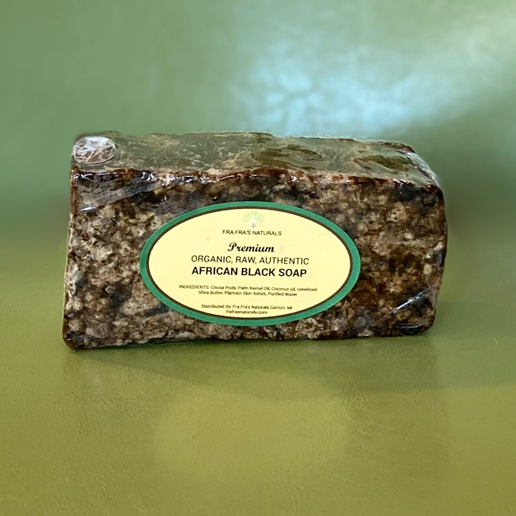 Fra Fra's Naturals | 1 lb Raw Unrefined African Black Soap - 100% Organic