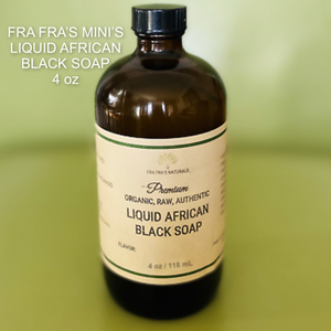 4 oz liquid african black soap body wash
