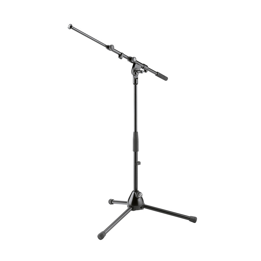 K&M 259-BLACK Telescopic Low-Level Microphone Stand