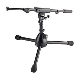 K&M 25950-BLACK Short Instrument/Amp Mic Stand with Boom