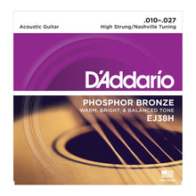 D'Addario Phosphor Bronze Wound Acoustic Strings