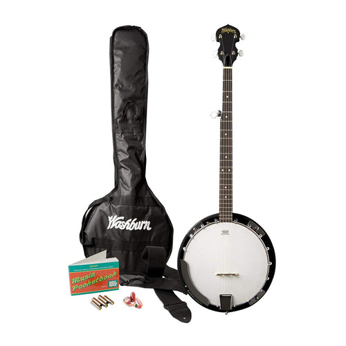 Washburn B8K Banjo Starter Pack (Natural)