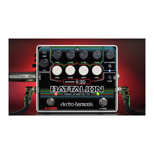 Electro-Harmonix Battalion Bass Preamp and DI Effect Pedal