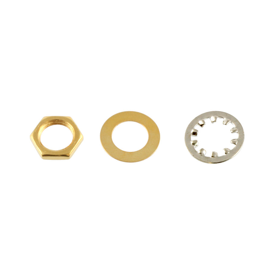 Gold Nuts and Washers for USA Pots and Jacks (Set)