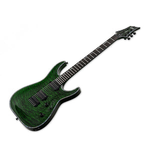 ESP LTD H-1001 QM See-Thru Green Electric Guitar