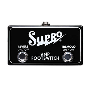 Supro SF2 Tremolo & Reverb Footswitch for Supro Amps