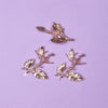 Aerwyn Metal Leaf Bobby Pin Trio