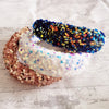AVA SEQUIN PADDED HEADBAND