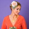 Darcie Oversized Rose and Dusky Foliage Corsage