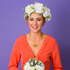 Darcie Oversized Rose and Dusky Foliage Crown