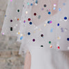 Disco Dreams Metallic Polka Dot Cape